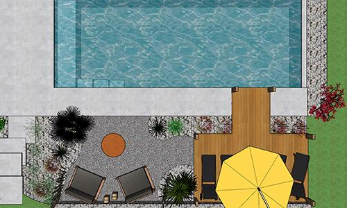 plan projet piscine