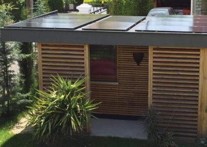poolhouse panneau solaire